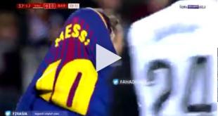اعتداء جماهير فالنسيا علي حافله برشلونة