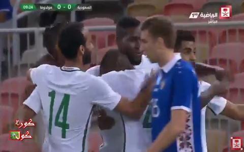 هدف السعودية الاول في مرمى مولودوفا 1-0