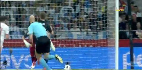 اهداف مباراة اسبانيا و الارجنتين