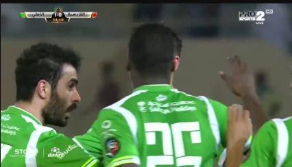 هدف الاهلي في مرمى القادسية 1-0