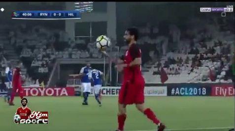 هدف الريان الاول في مرمى الهلال 1-0 من ركلة جزاء