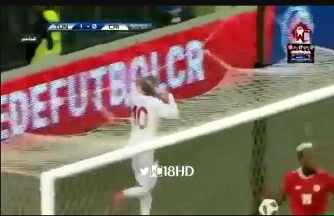 هدف تونس في مرمى كوستاريكا 1 - 0