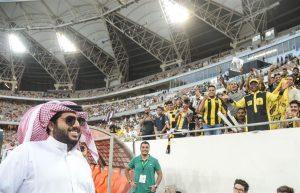 تركي ال الشيخ في مباراة نهائي كاس الملك
