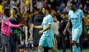 فهد المولد يحتفل بفوز ليفانتي على برشلونة