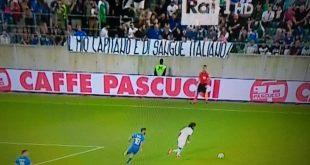 لافتة مسيئة لبالوتيلي في لقاء السعودية وايطاليا