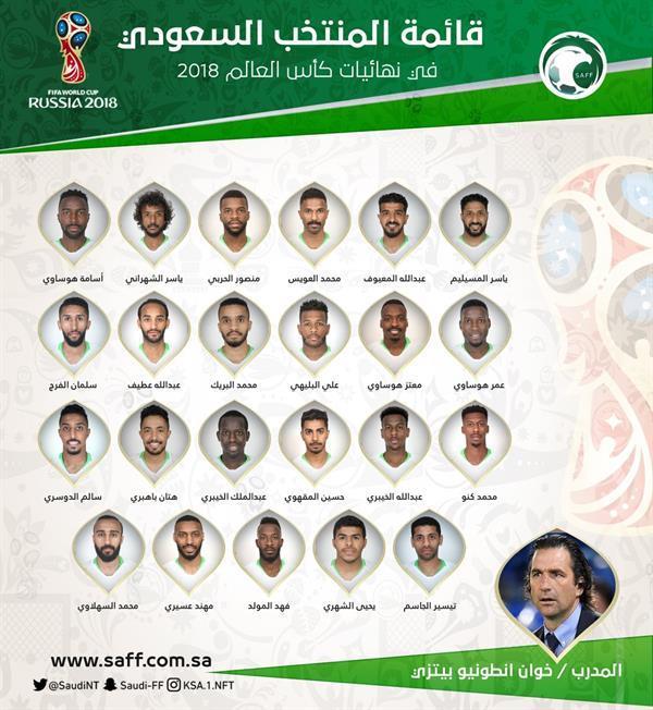 قائمة المنتخب السعودي لكأس العالم