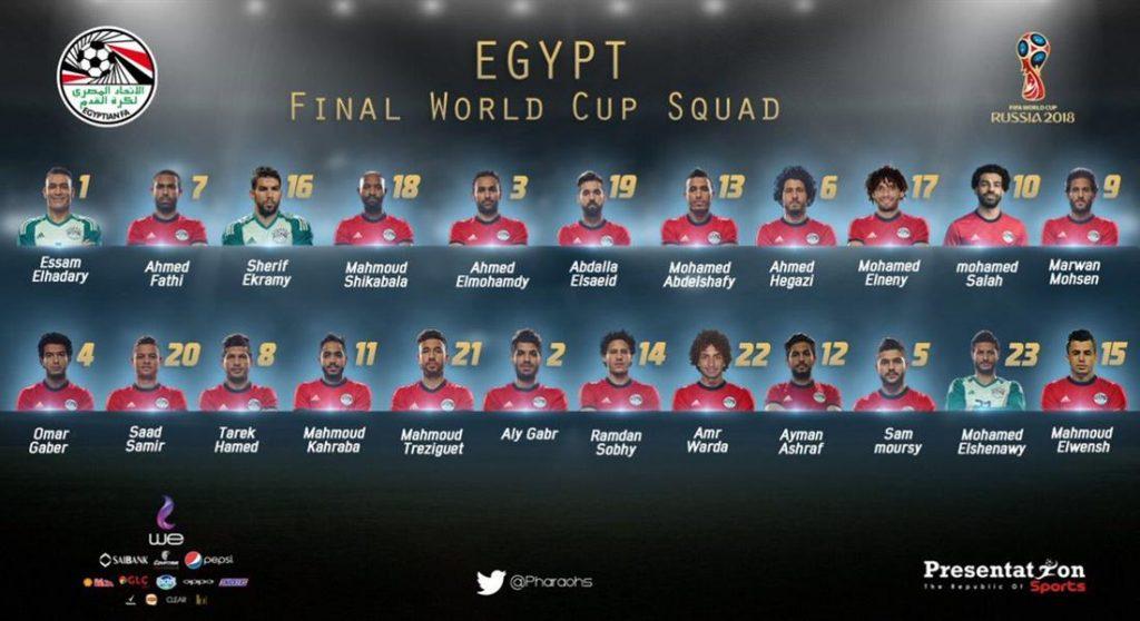 قائمة المنتخب المصري لكأس العالم