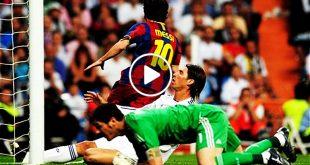 هدف ميسي في مرمى ريال مدريد