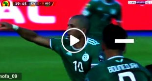 شاهد   هدف الجزائر في مرمى كوت ديفوار 1-0 امم افريقيا 2019