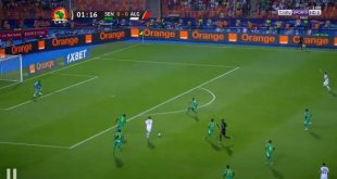 هدف الجزائر الاول في مرمى السنغال بغداد بونجاح