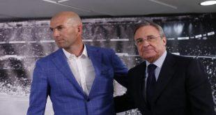 زيدان مع رئيس نادي ريال مدريد