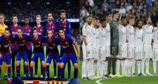 لاعبو برشلونة وريال مدريد