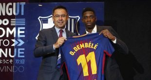 لاعب برشلونة الإسباني عثمان ديمبي