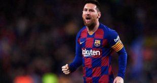 النجم الأرجنتيني ليونيل ميسي قائد فريق برشلونة الإسباني