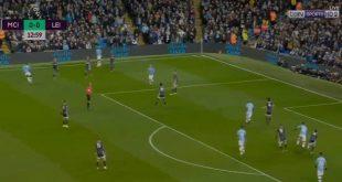 أهداف مباراة مانشستر سيتي وليستر سيتي