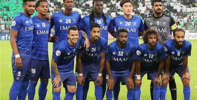 لاعبو فريق الهلال السعودي