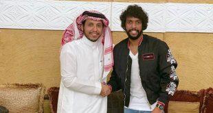 رئيس نادي النصر السعودي واللاعب عبد المجيد الصليهم
