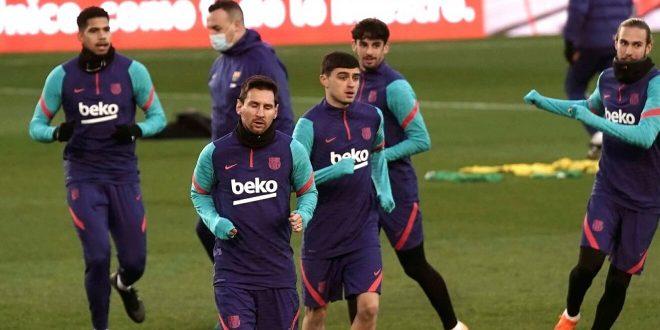 moroco player in barcelona training