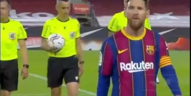 messi and referee
