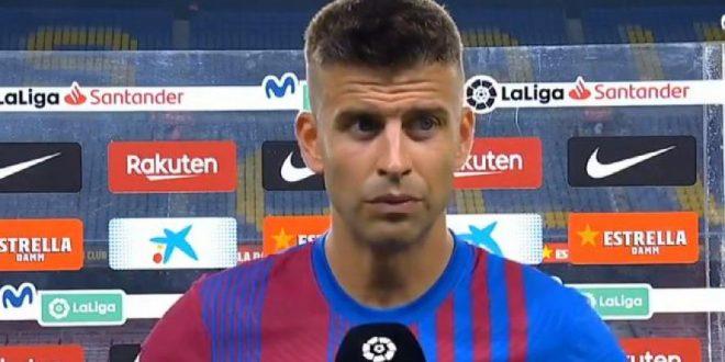 Pique barcelona captain